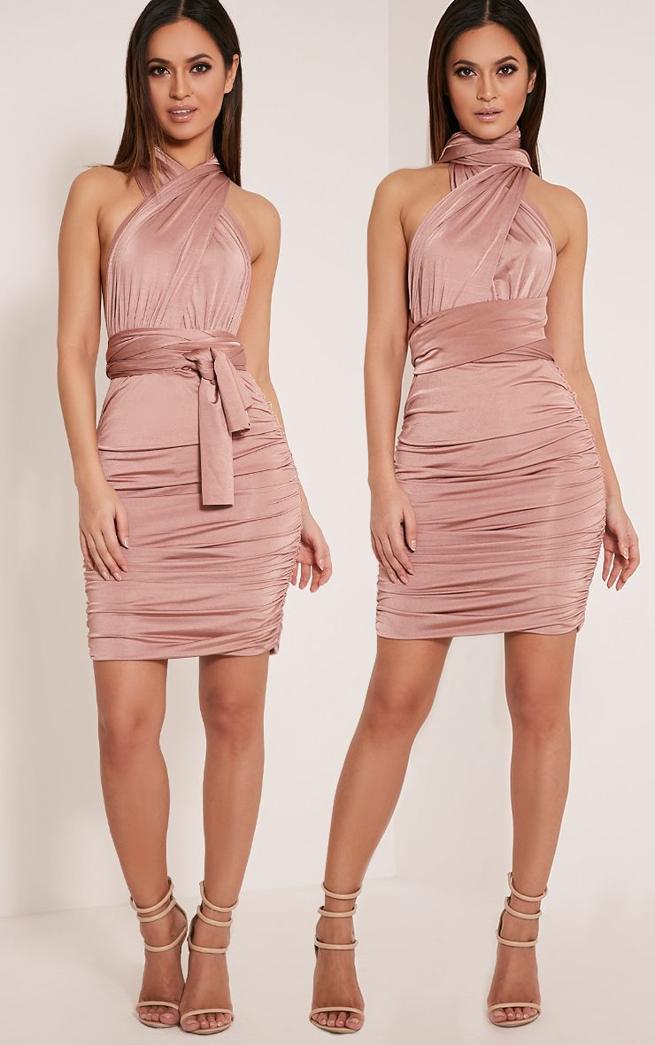 Katherine Blush Multiway Mini Dress 1