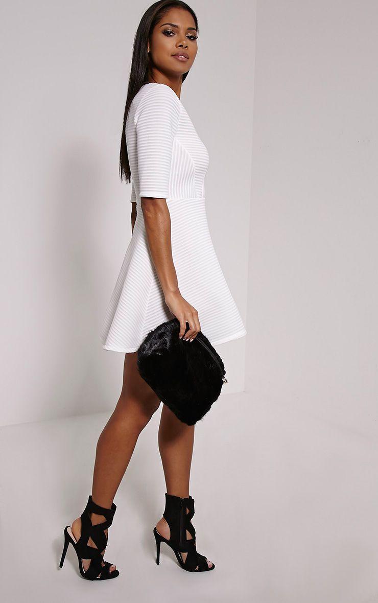Halley Black Fluffy Chain Shoulder Bag Black