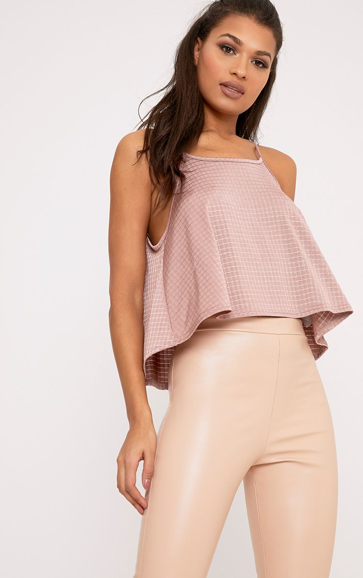 Billie Blush Textured Shimmer Cami Top