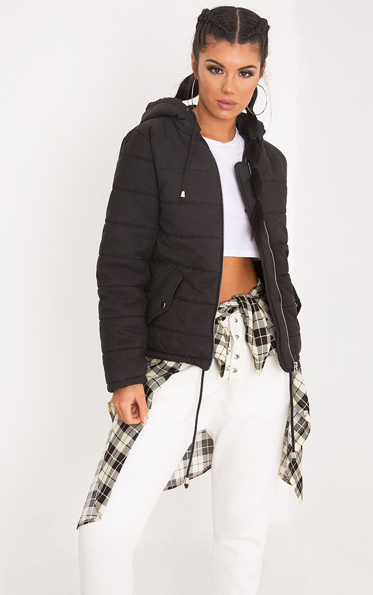 Darri Black Cropped Puffer Jacket