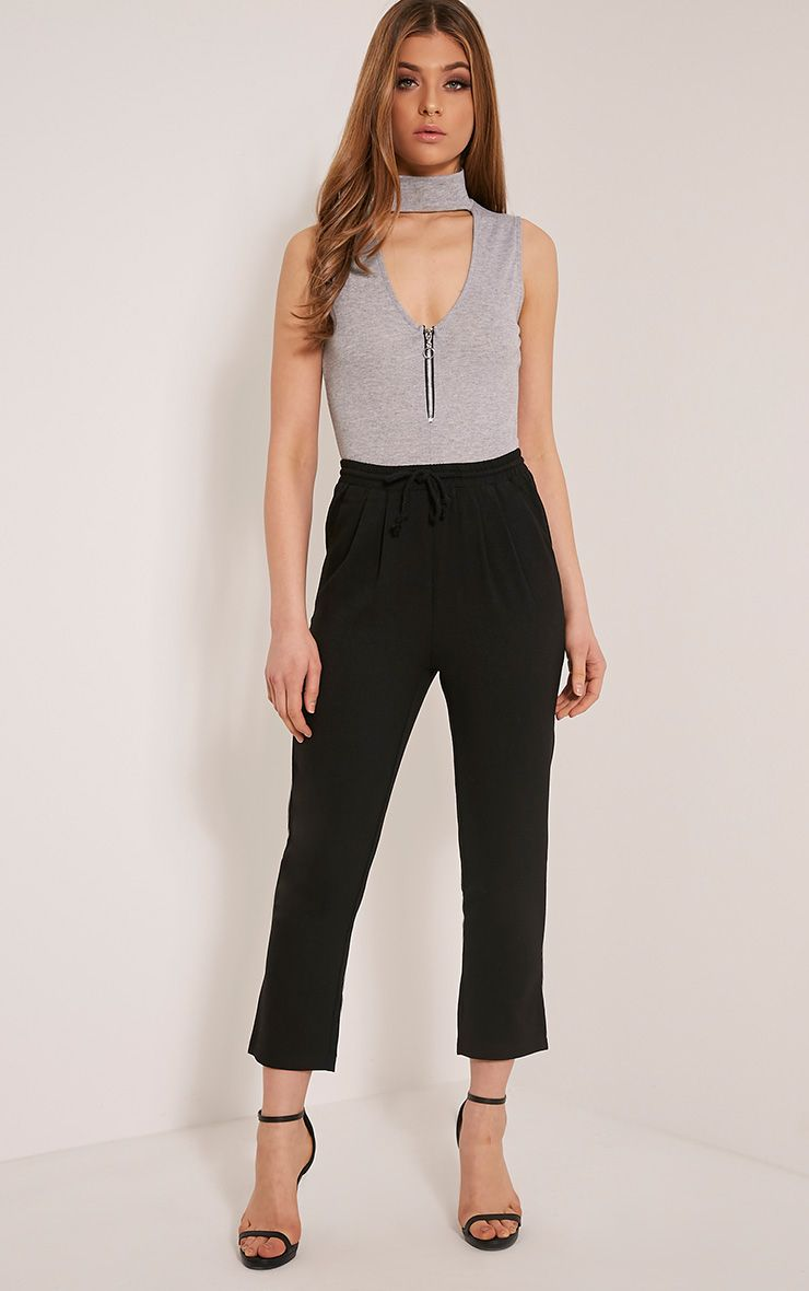 Petite Diya Black Cropped Trousers 1