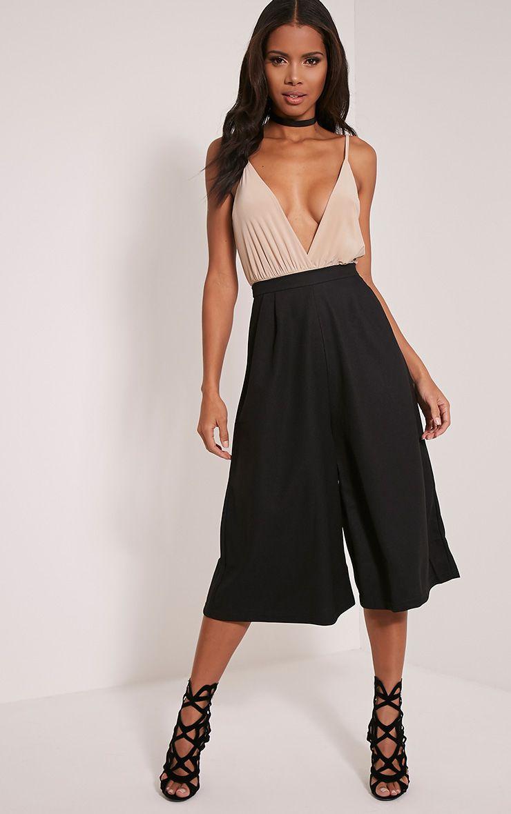Rosine Black Textured Culottes 1