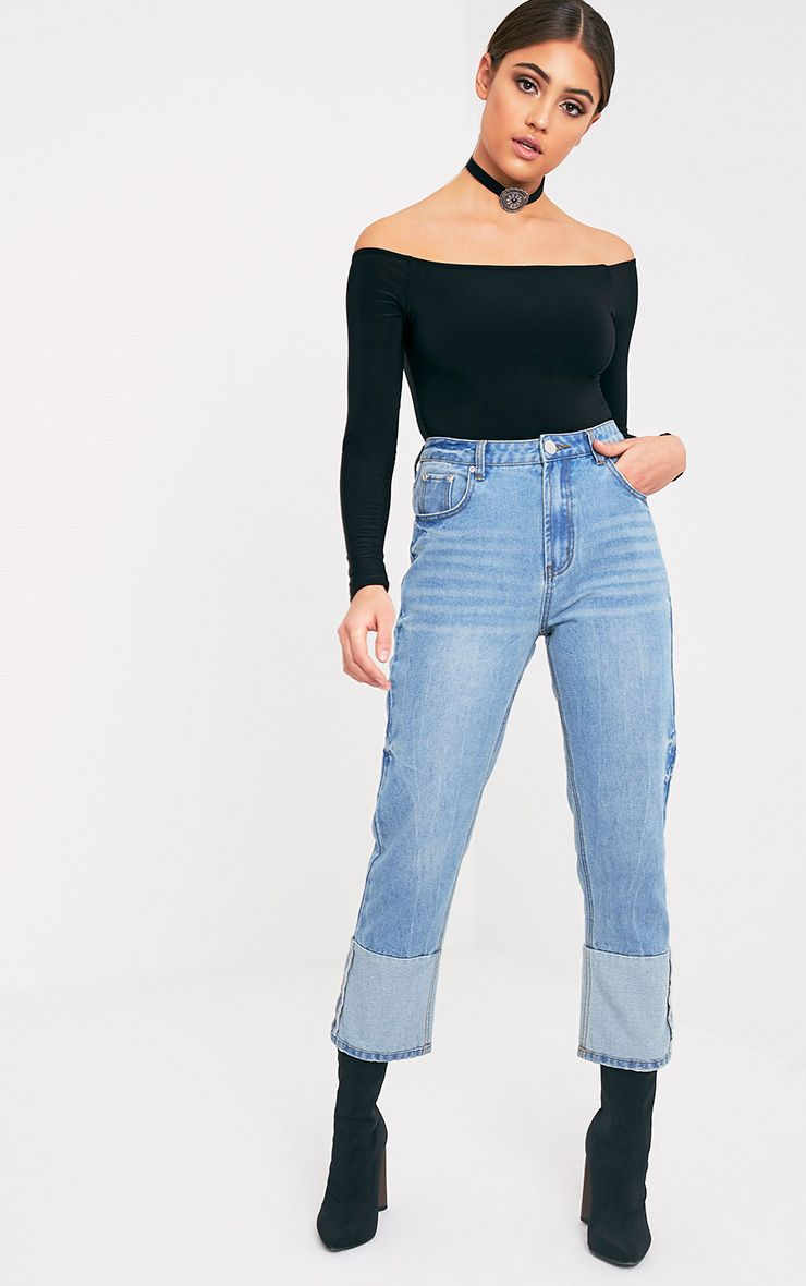 Penelope Light Wash Exposed Seam Straight Fit Jean