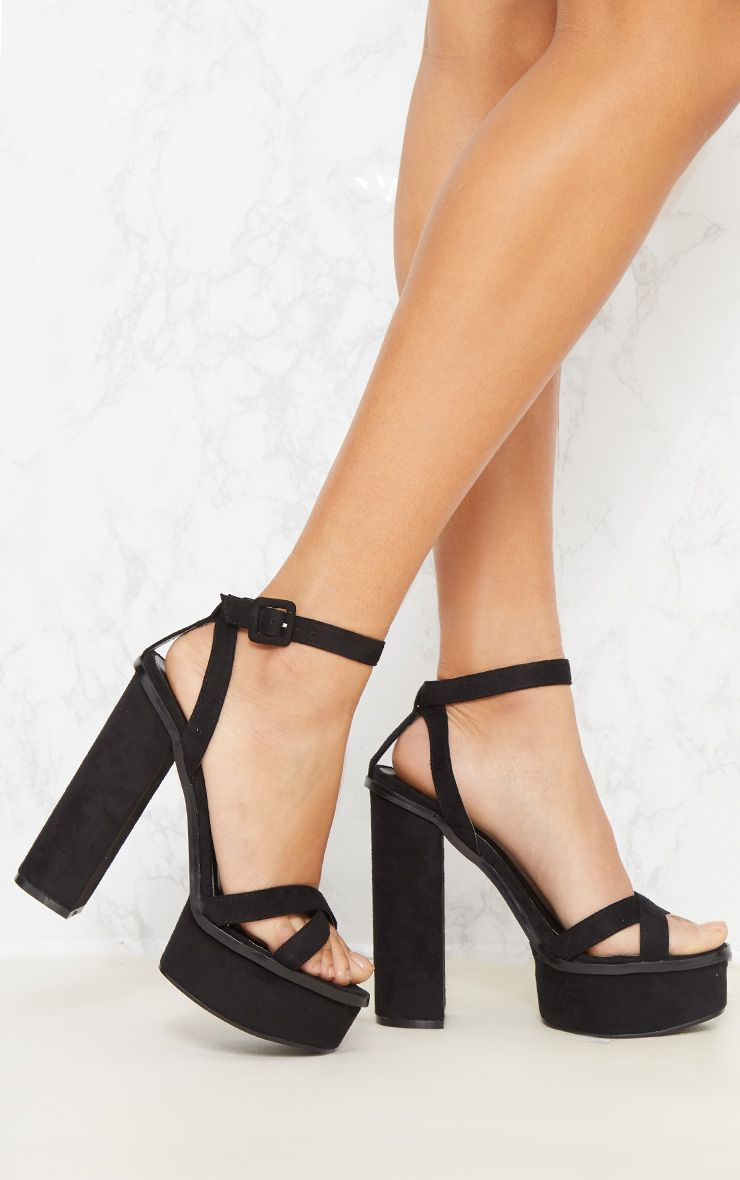 Black High Platform Sandal