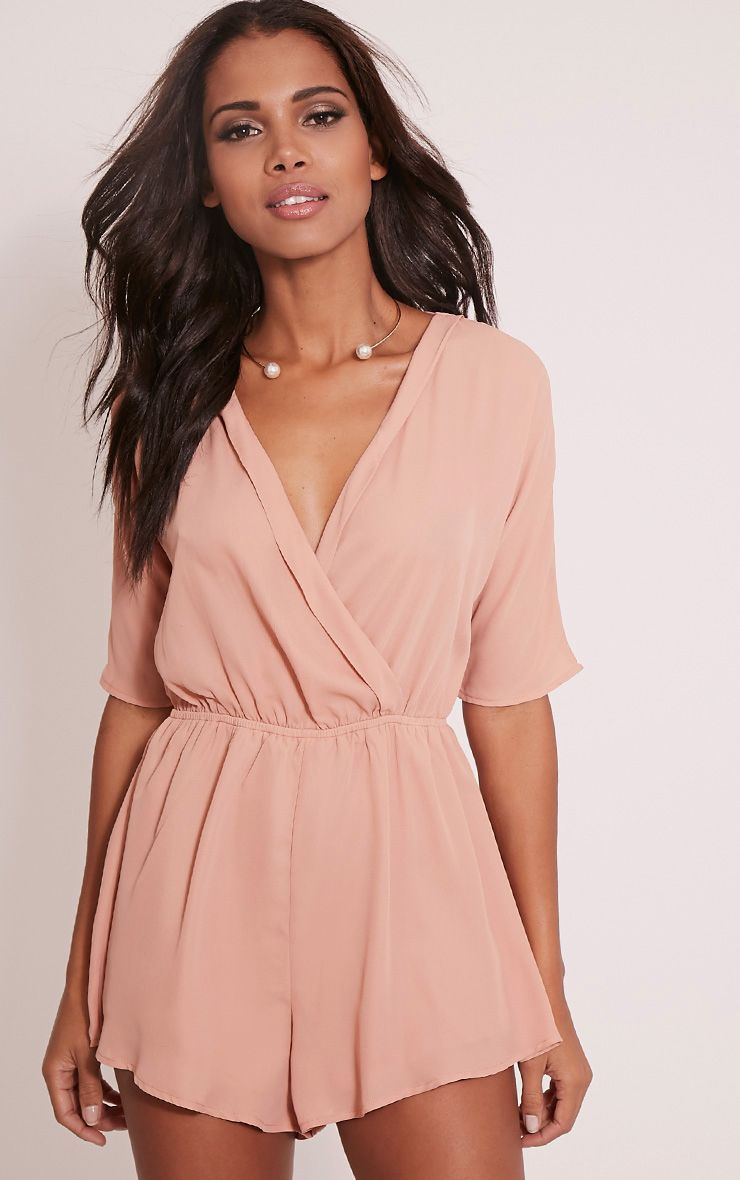 Bobby Nude Wrap Front Playsuit