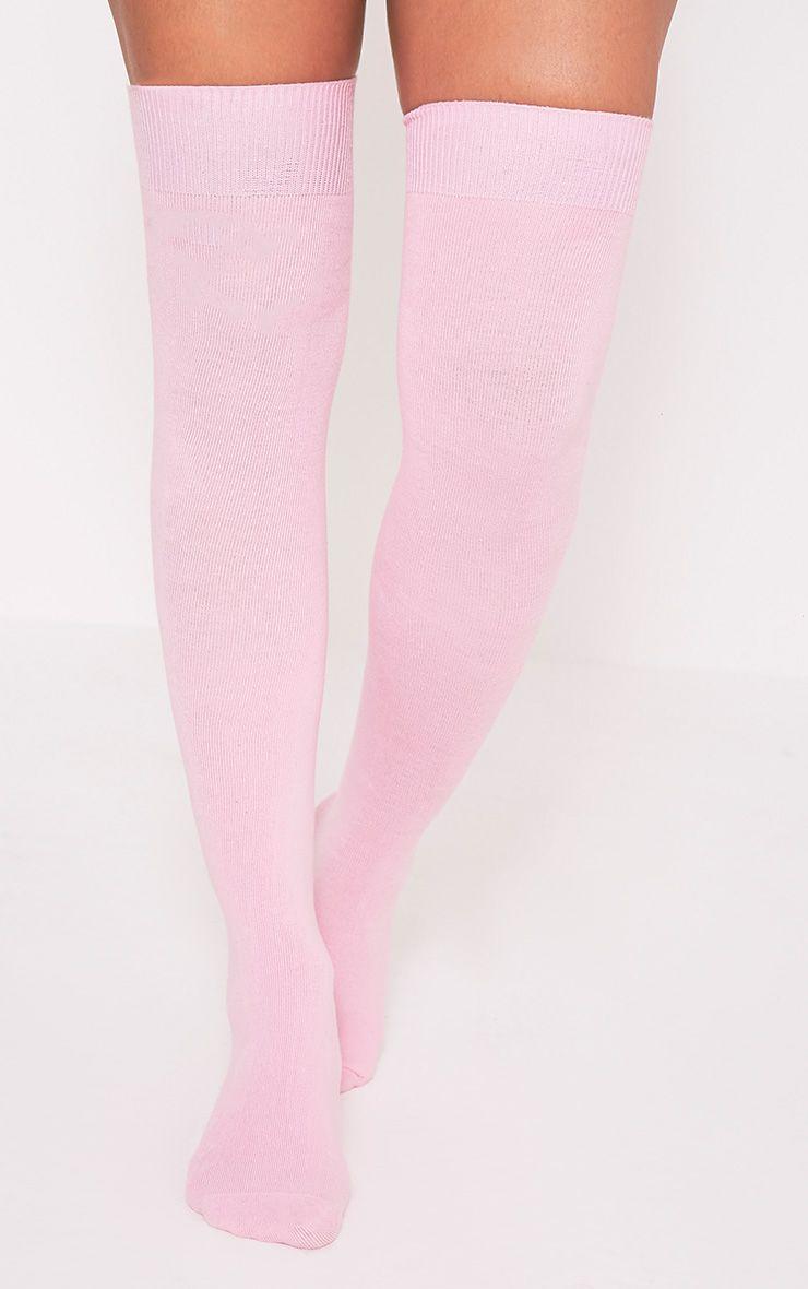 Calliope Baby Pink Over The Knee Socks 1