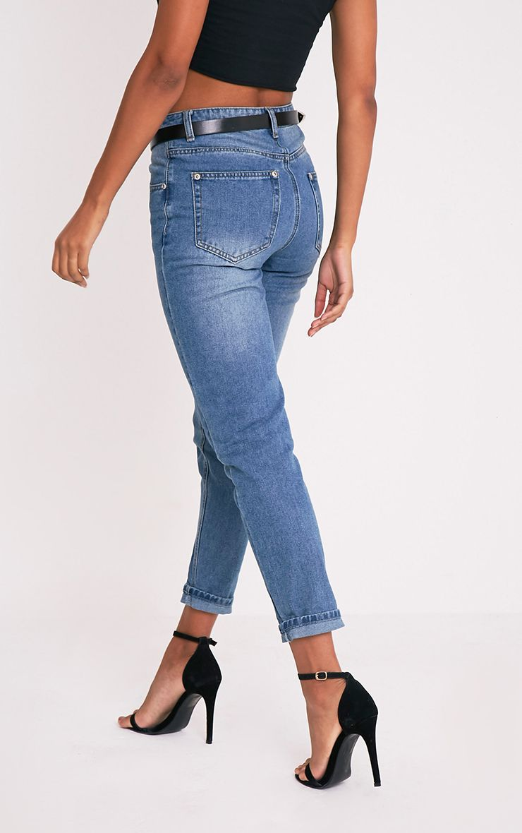 Mid Wash Mom Jeans 4