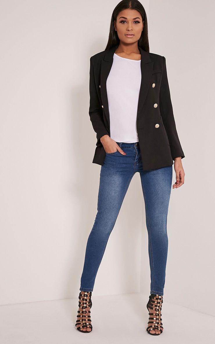 Kim Mid Wash Slim Leg Jeans