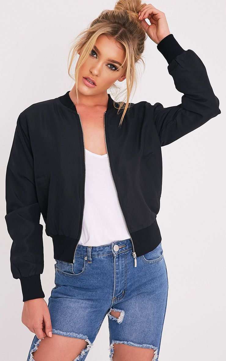 Salali Black Bomber Jacket 1