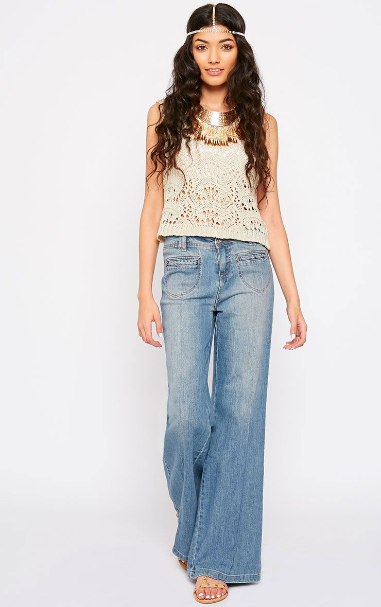 Tierna Blue Flared Jean 1