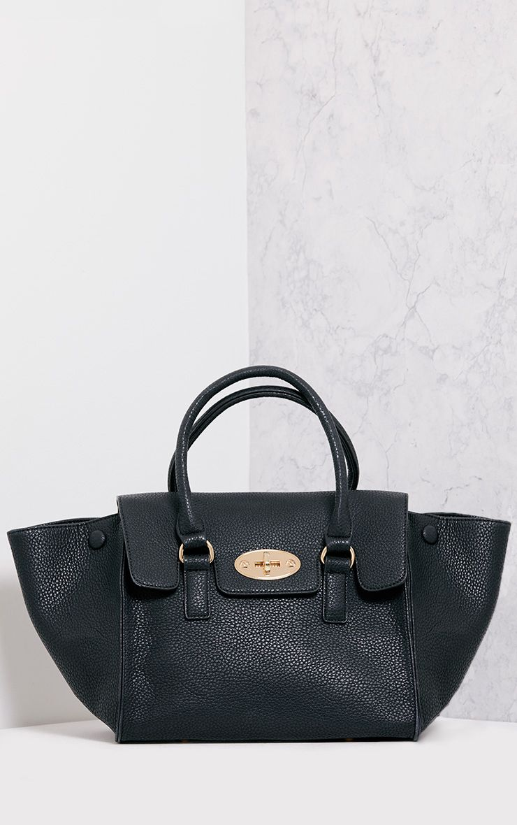 Billie Black Foldover Tote
