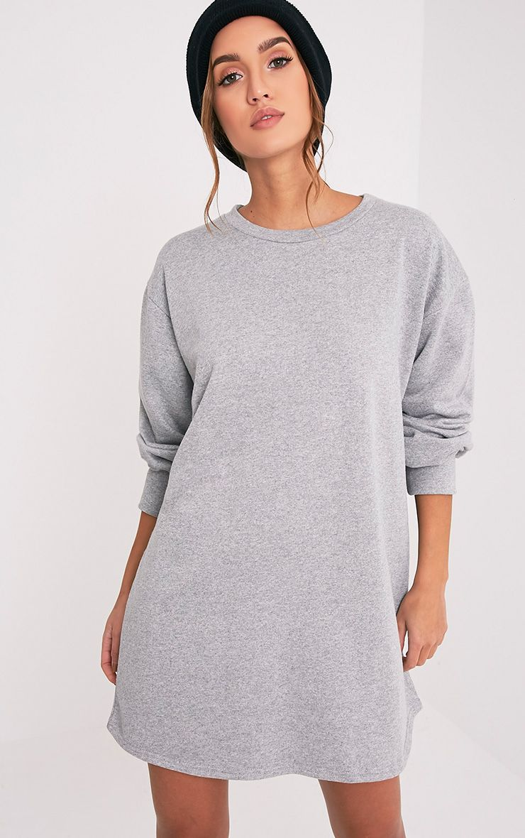 Grey Oversized Sweater Dress