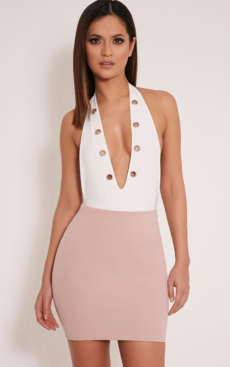 Milah Nude Scuba Mini Skirt