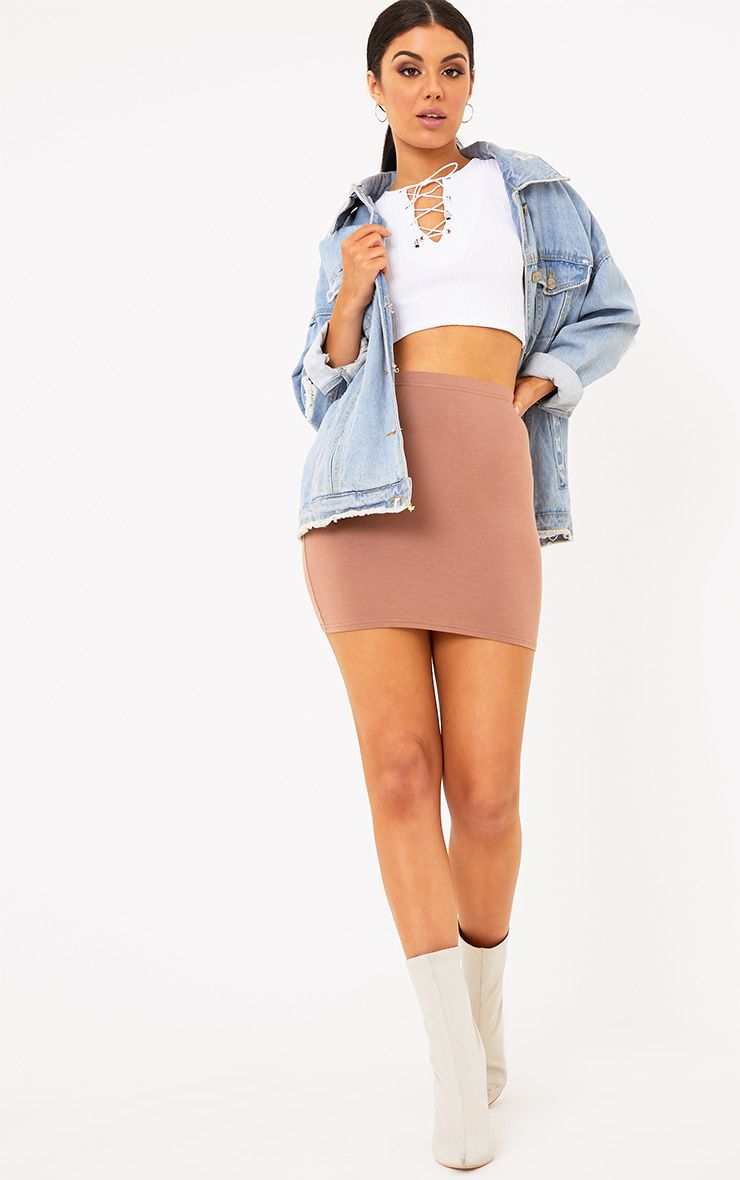 Basic Camel Mini Skirt