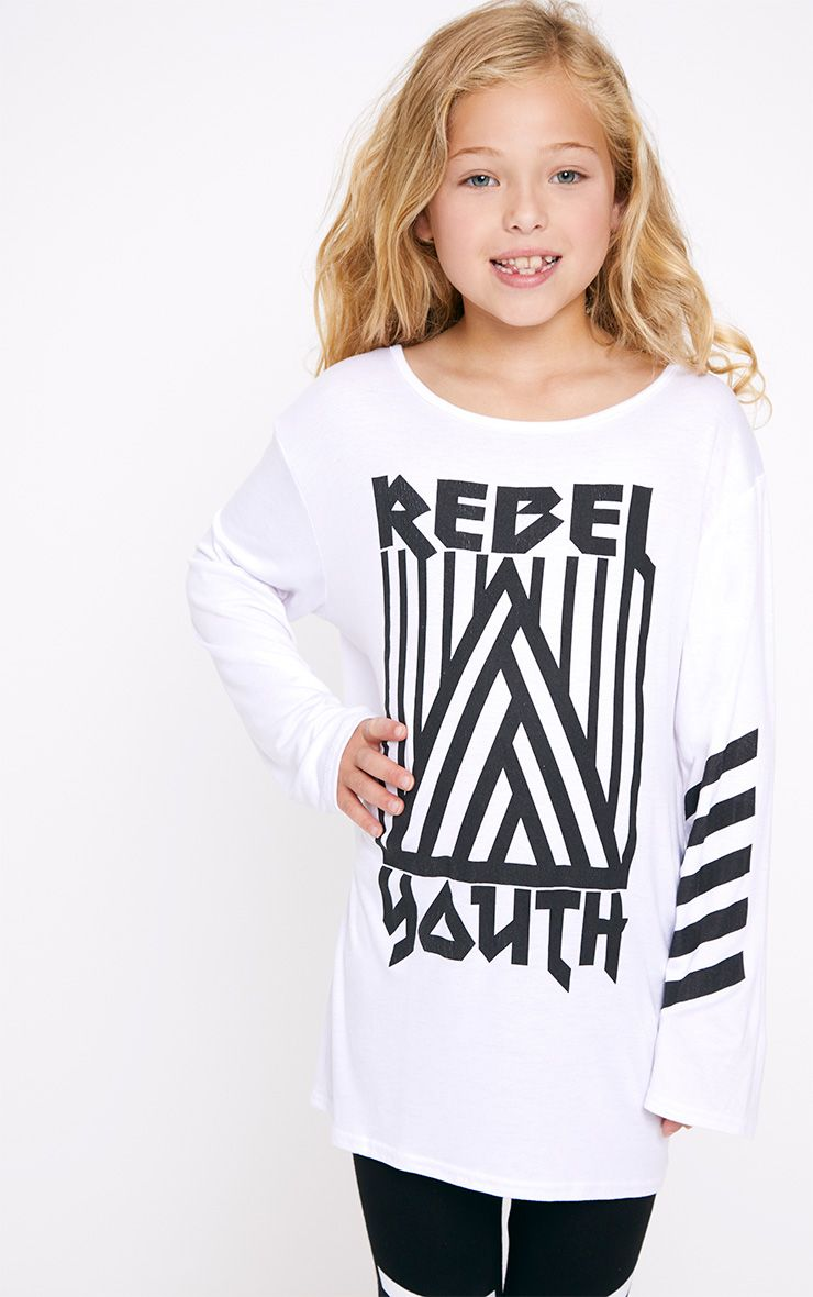 Rebel Youth Longline White Top
