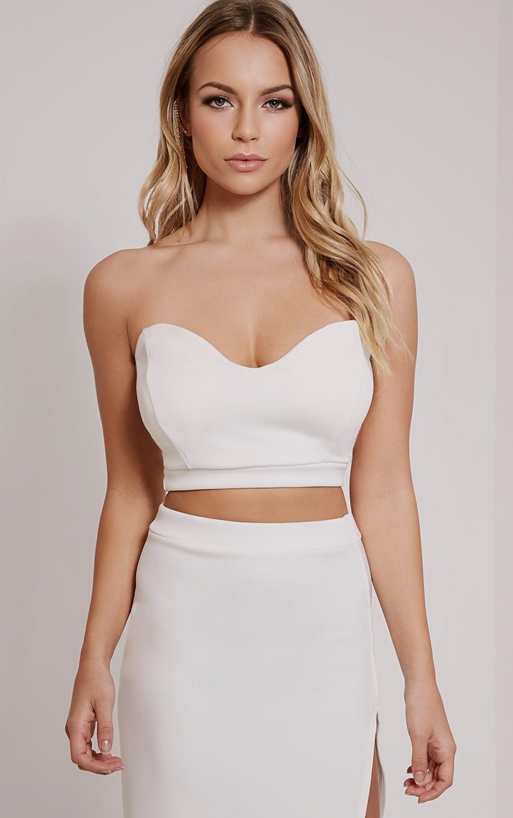 Ella Cream Sweetheart Bralet 1