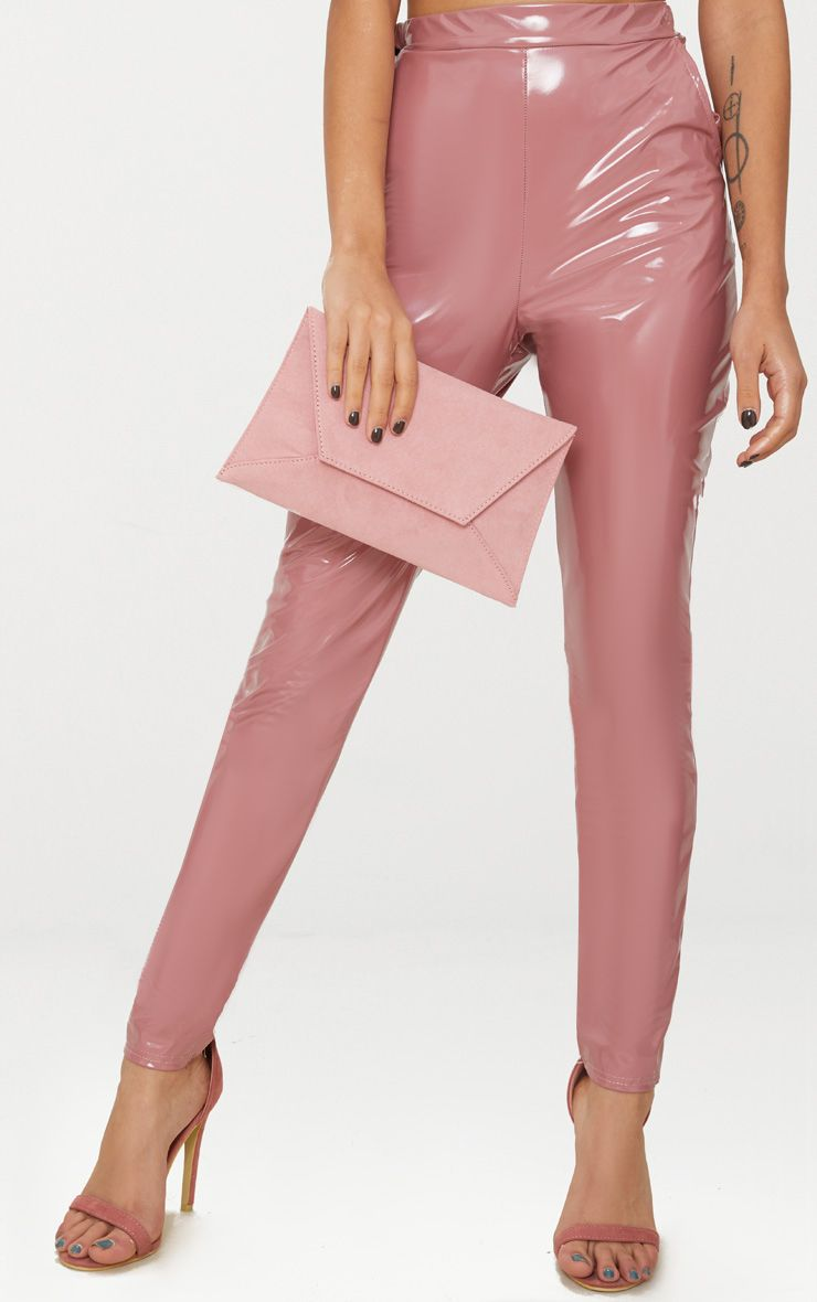 Blush Envelope Clutch Bag