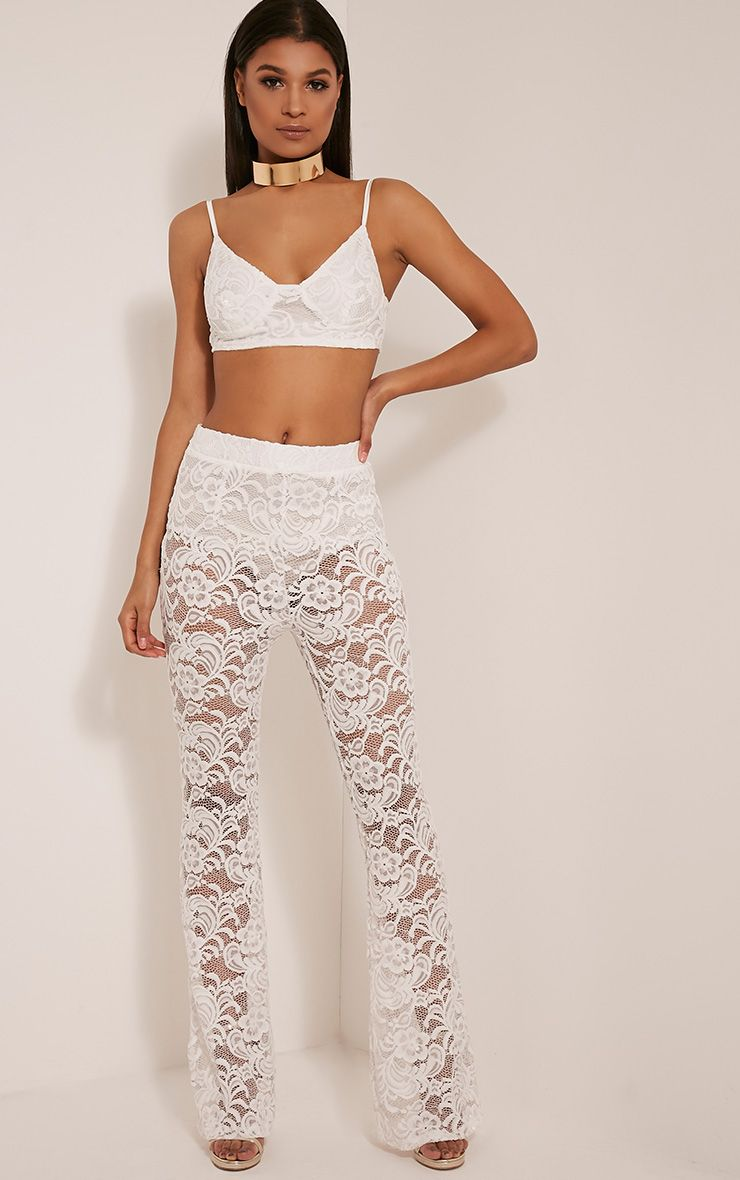 Madeira Cream Lace Flares