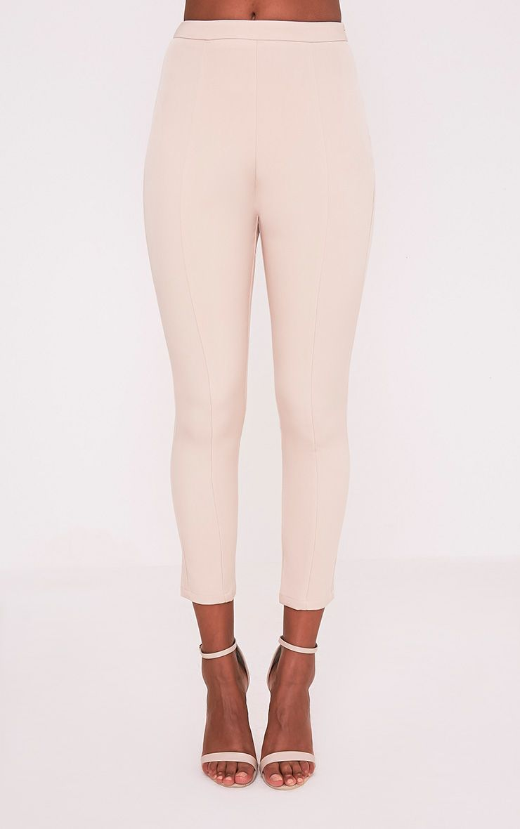 Ryena Nude Cigarette Suit Trousers