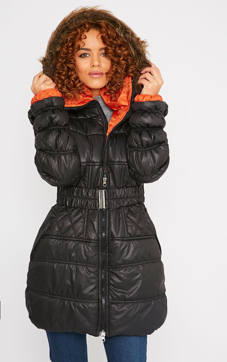 Stella Black Padded Coat 1