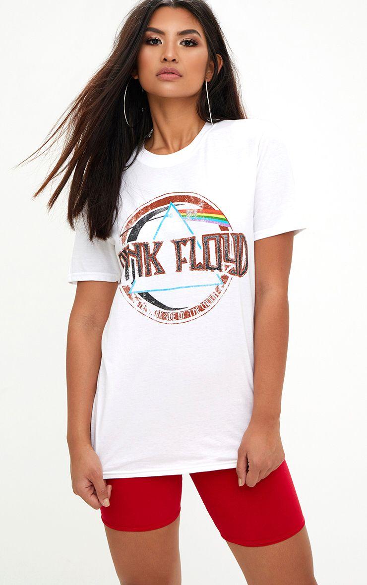 Pink Floyd Slogan White T Shirt
