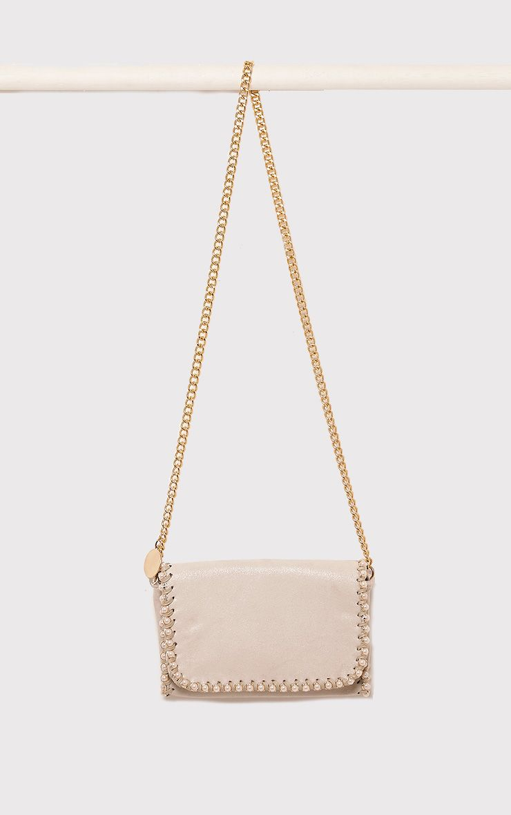 Seiena Cream Pearl Trim Clutch  5