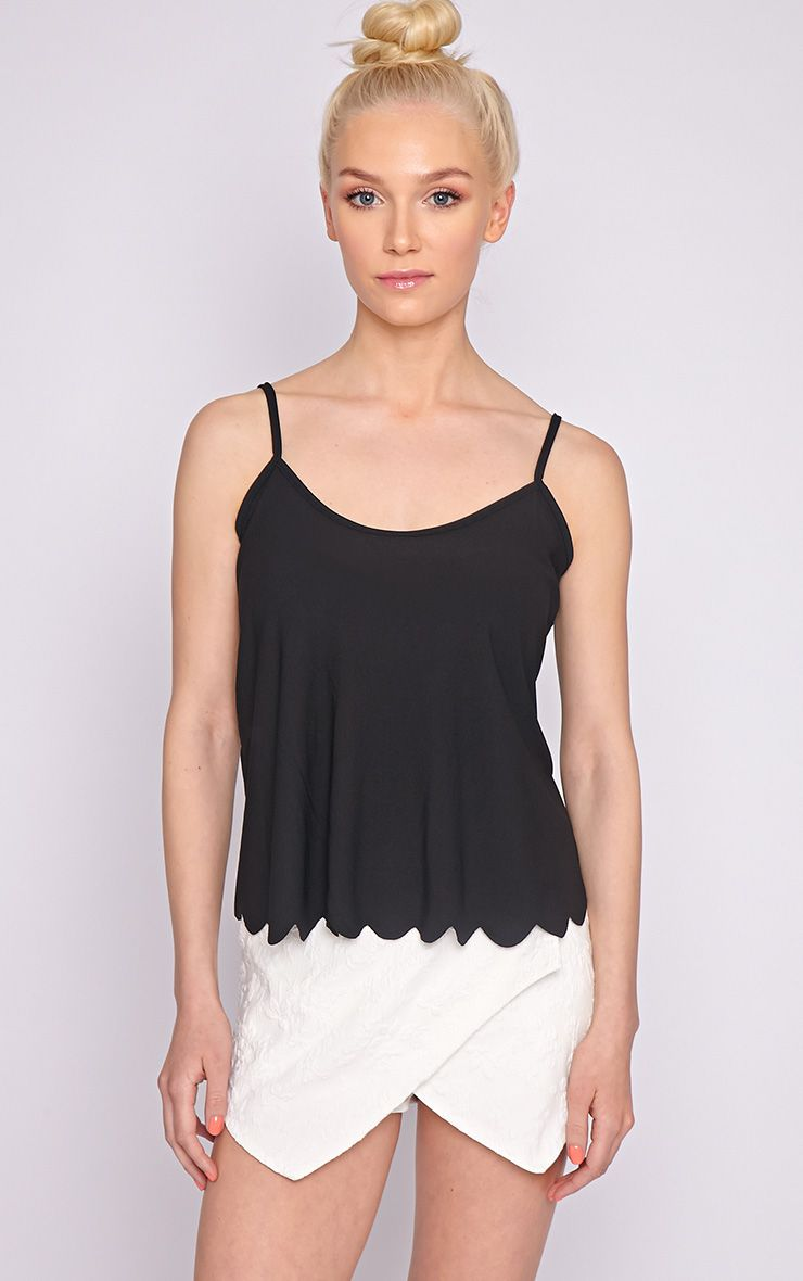 Kailey Black Scallop Vest  1