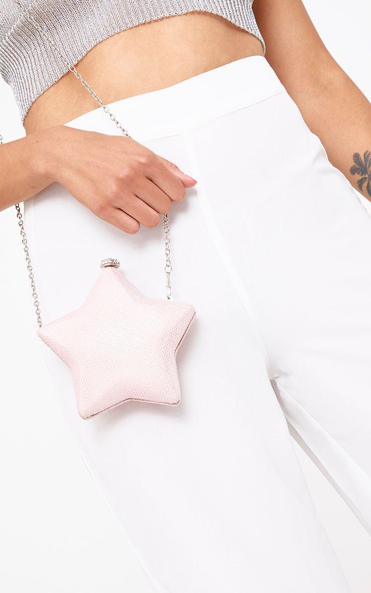 Pochette étoile rose à paillettes