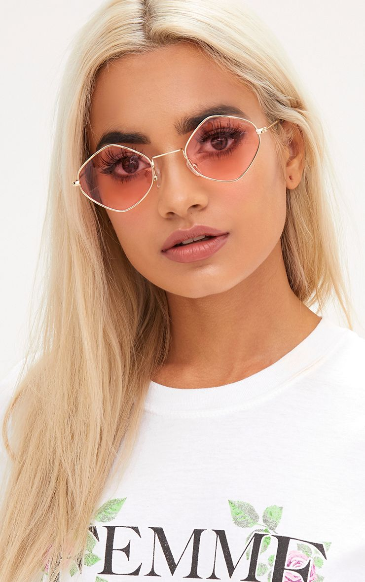 Pink Diamond Shape Sunglasses