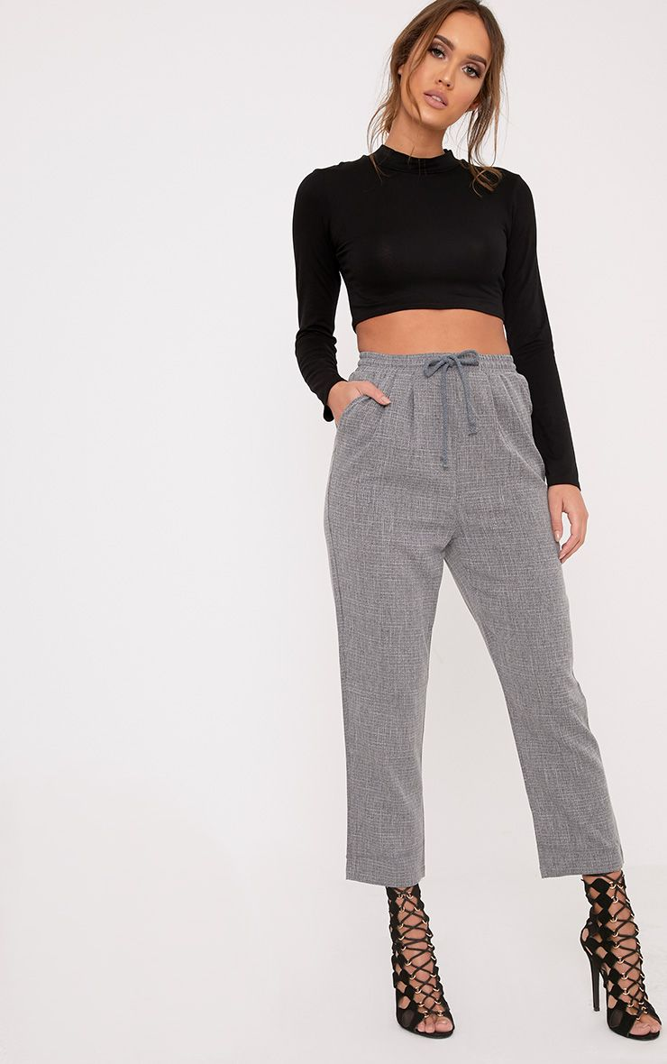 Diya Grey Casual Trousers 1