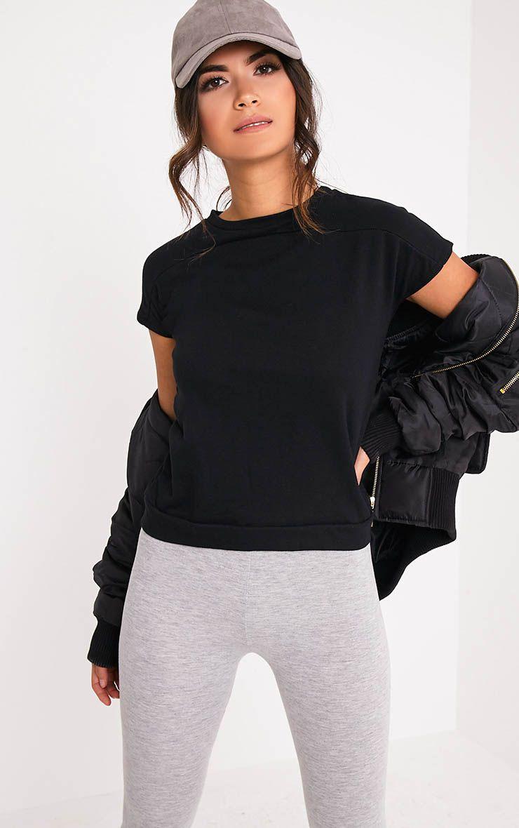 Adabel Black Boxy Highneck Sweater