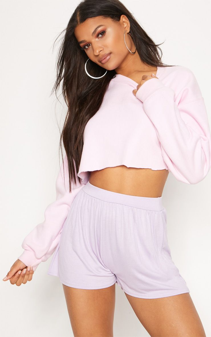 Lilac Jersey Floaty Short