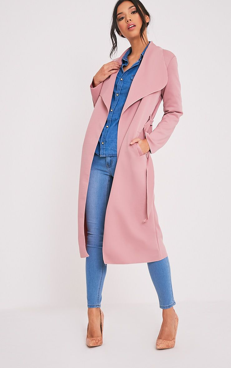 Paisie Rose Scuba Waterfall Coat