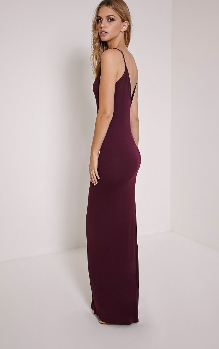 Basic Berry Scoop Back Maxi Dress 1
