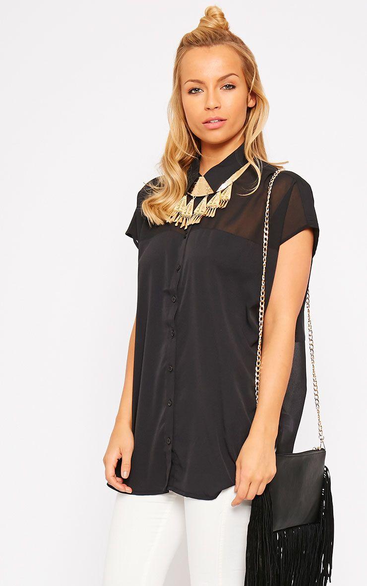 Lilith Black Short Sleeve Shirt 1