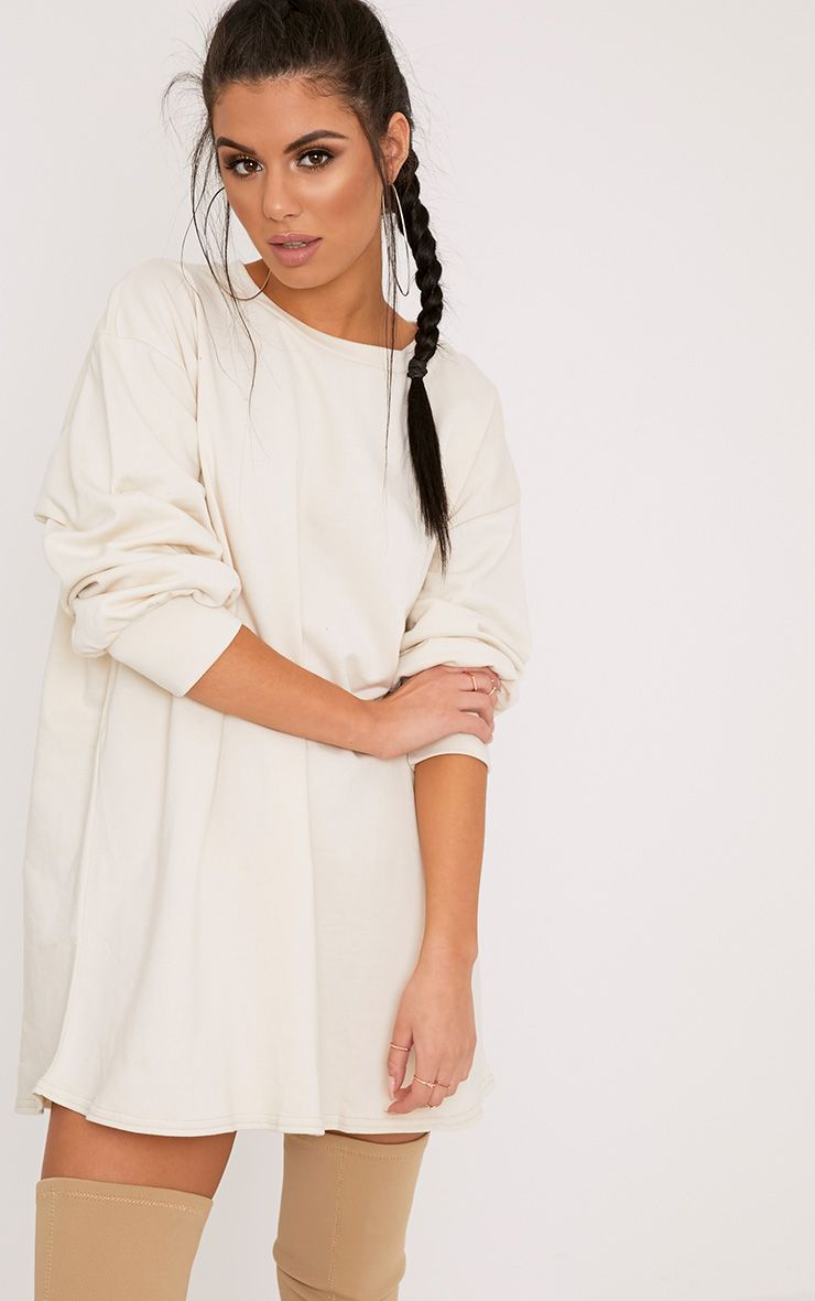 Sianna Taupe Oversized Sweater Dress