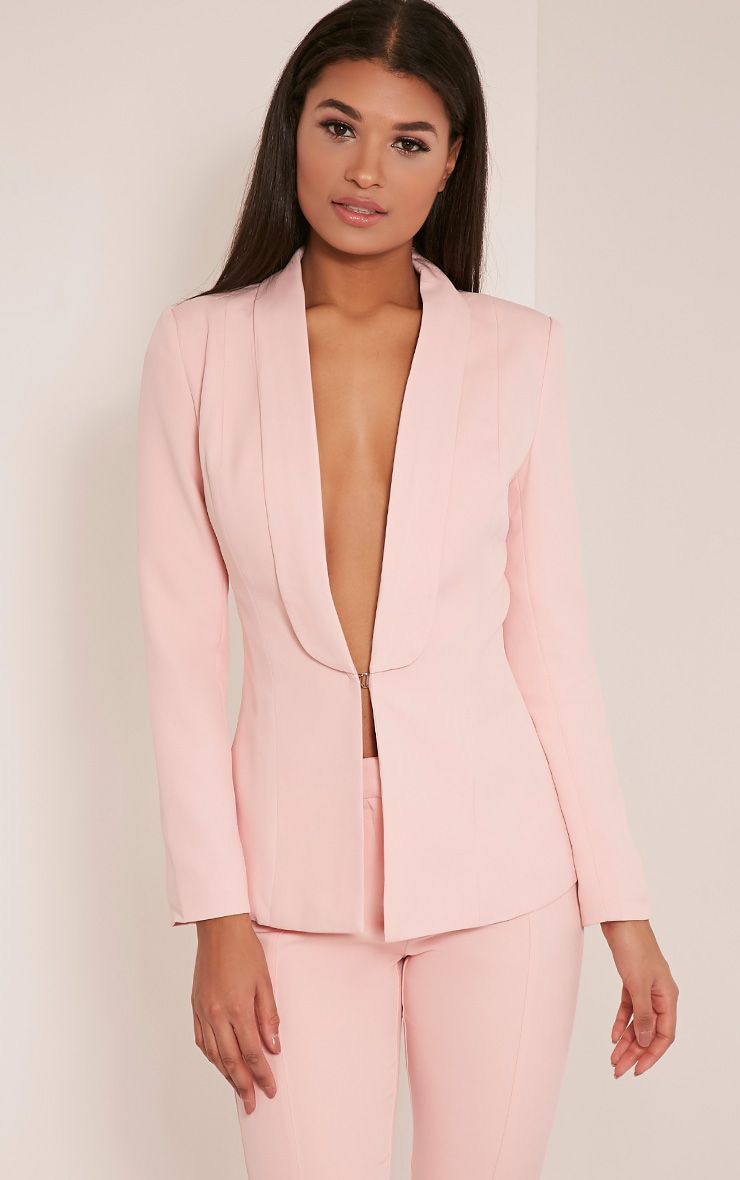Avani Pink Suit Jacket 1