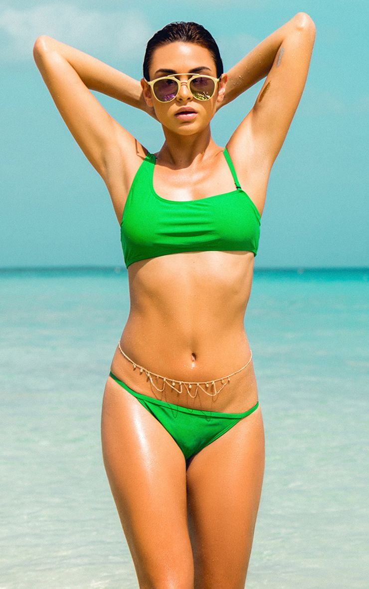 Danielle Green Mix and Match Asymmetric Bikini Top