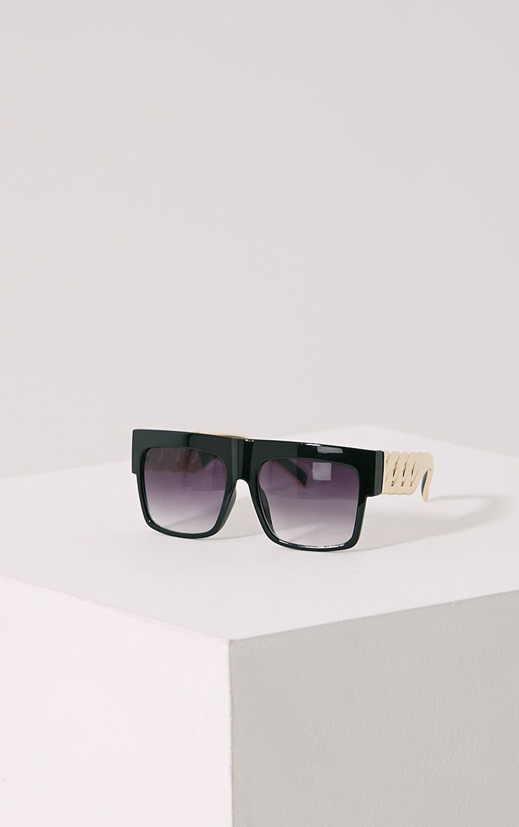 Nora Black Chain Sunglasses Black