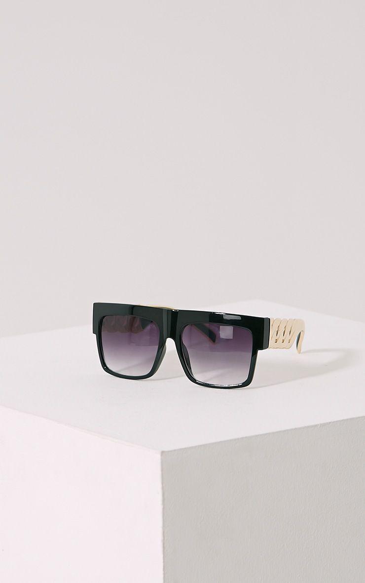 Nora Black Chain Sunglasses Black