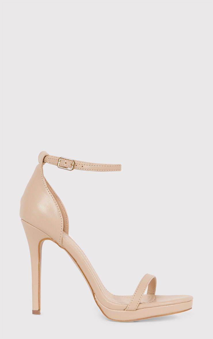 Enna Nude Single Strap Heeled Sandals