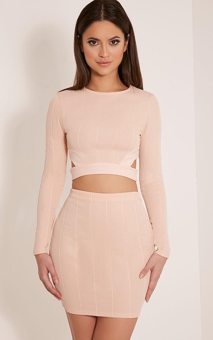 Miriam Nude Bandage Mini Skirt 1