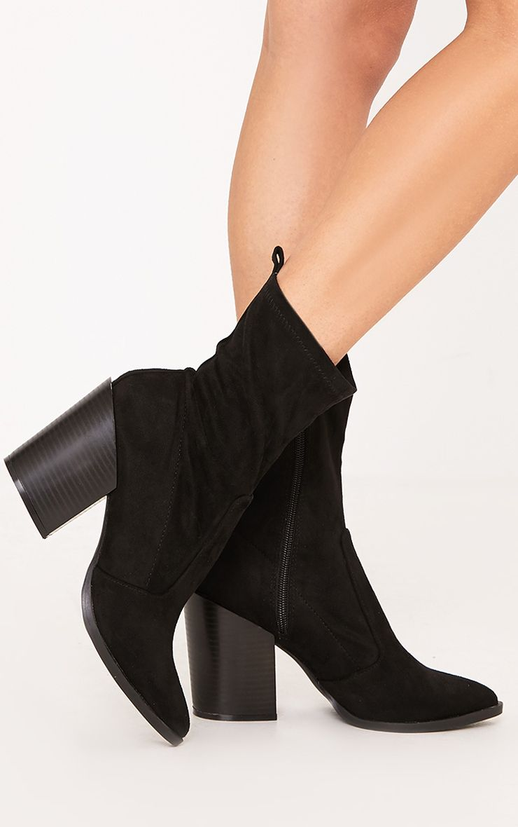 Danica Black Western Sock Boots