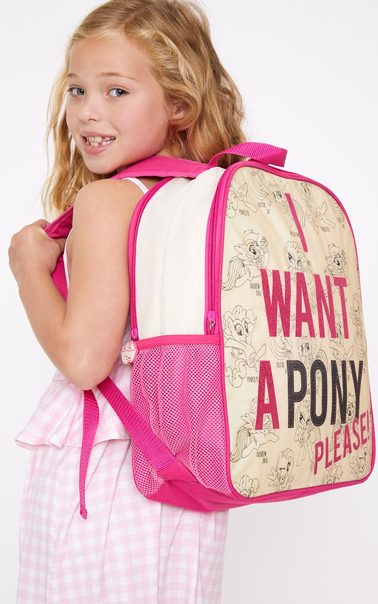 My Little Pony Cream Double Back Pack