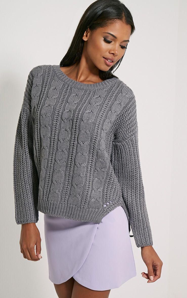 Jada Grey Knitted Jumper 1