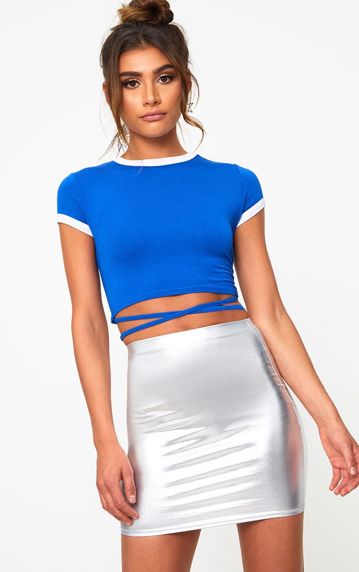 White Jersey Harness Contrast Crop T Shirt Pretty Little Thing Discount Top Quality Discount Free Shipping Buy Cheap Clearance Store Clearance Enjoy RlYzWzj4E
