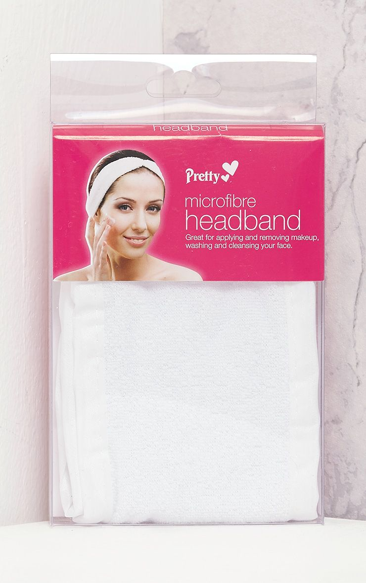 Pretty White Microfibre Make-up Headband