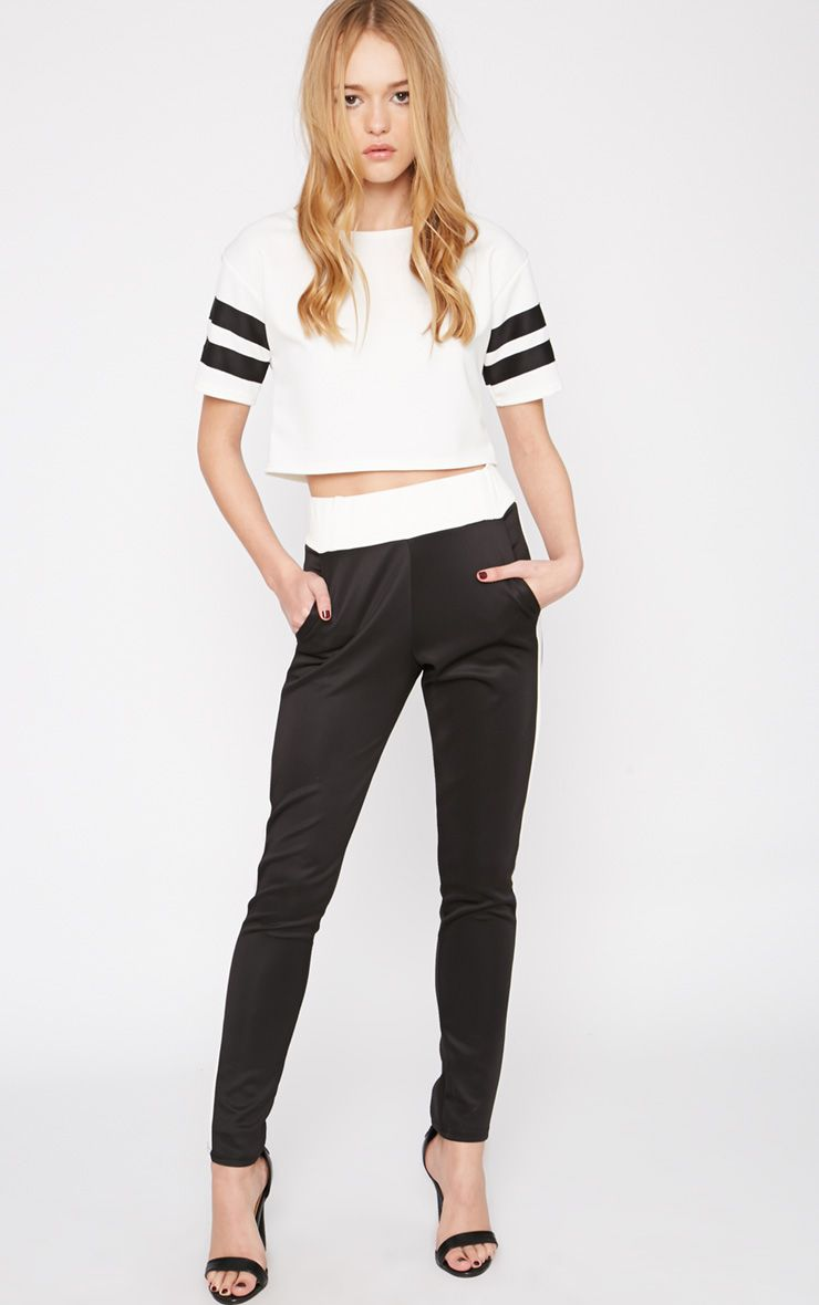 Suse Black White Stripe Jogger 1