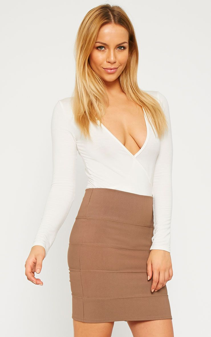 Anel Mocha Bandage Mini Skirt  1