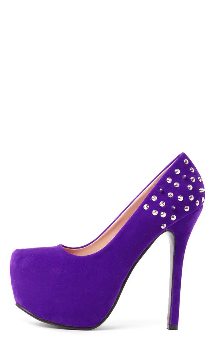 Leah Spike Purple Platform Stiletto 1